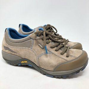 Dansko Taupe Leather Sneakers
